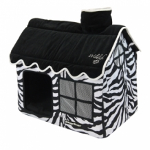 Happy-House Villa wildlife 62x42x59 cm zwart / wit