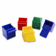 Colored Cube Bird Toy - 5 pack
